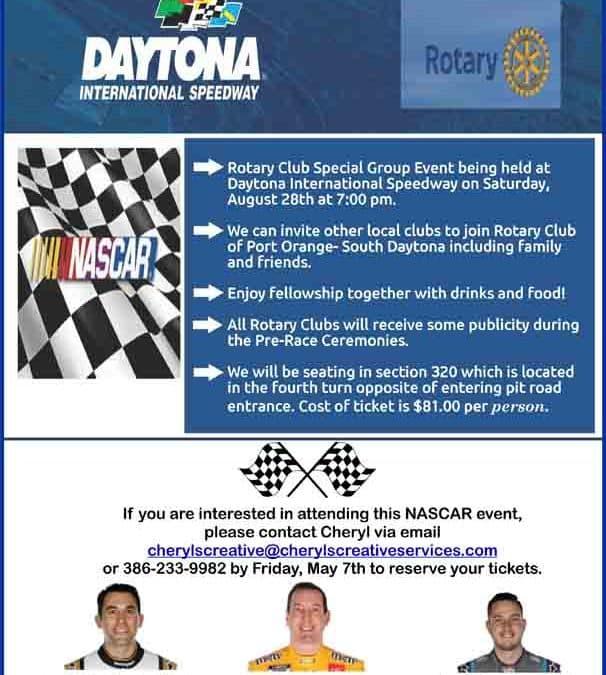 NASCAR Daytona and Port Orange – South Daytona Rotary Club Event